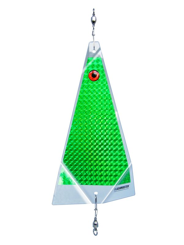 green clear solid fishing lure