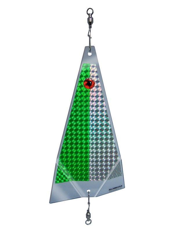 green ice fishing lure