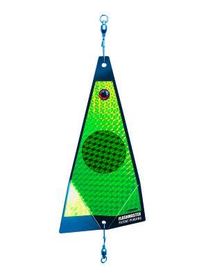 ko green dot on chartreuse fishing lure