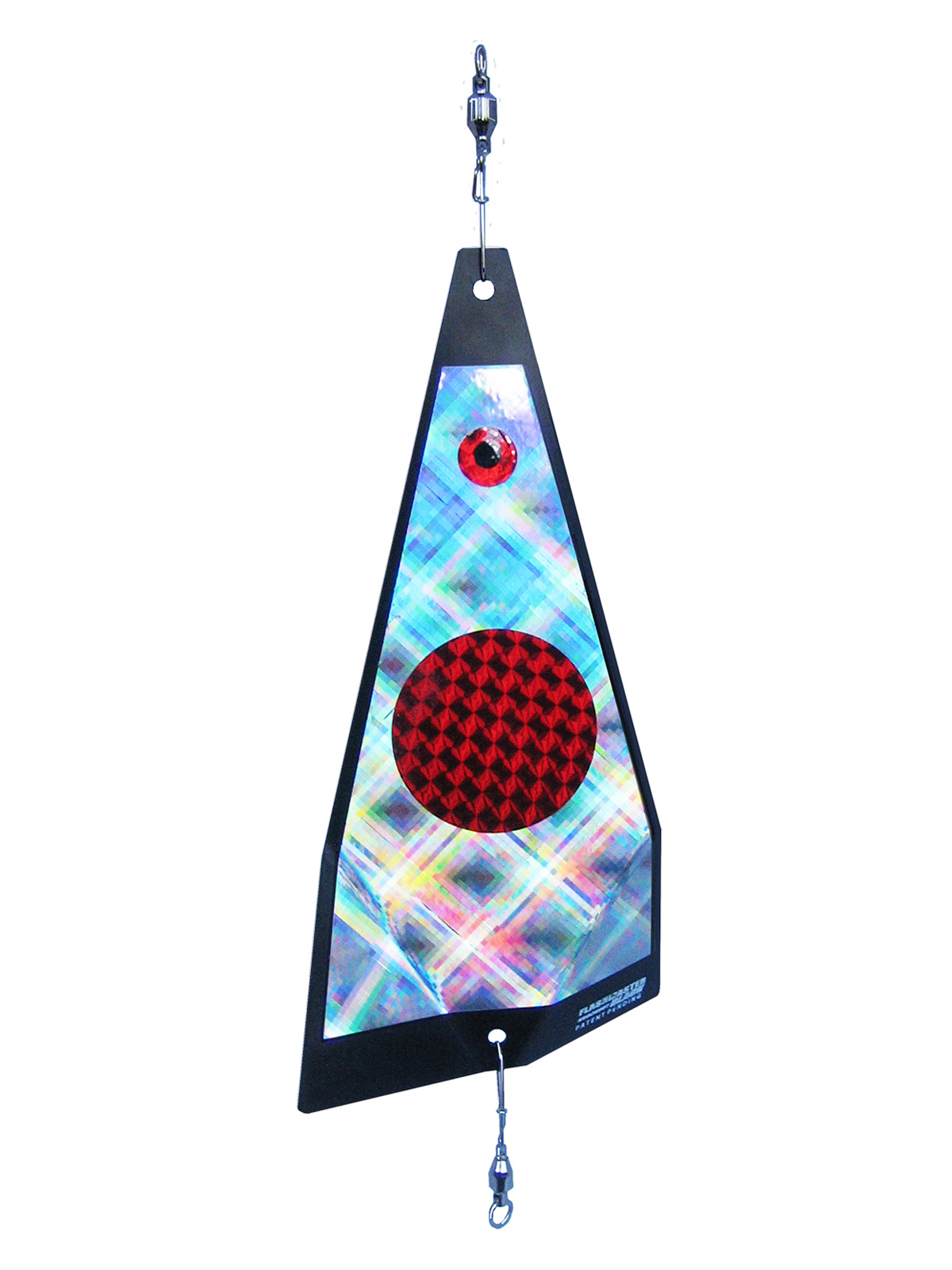 ko red dot on plaid fishing lure
