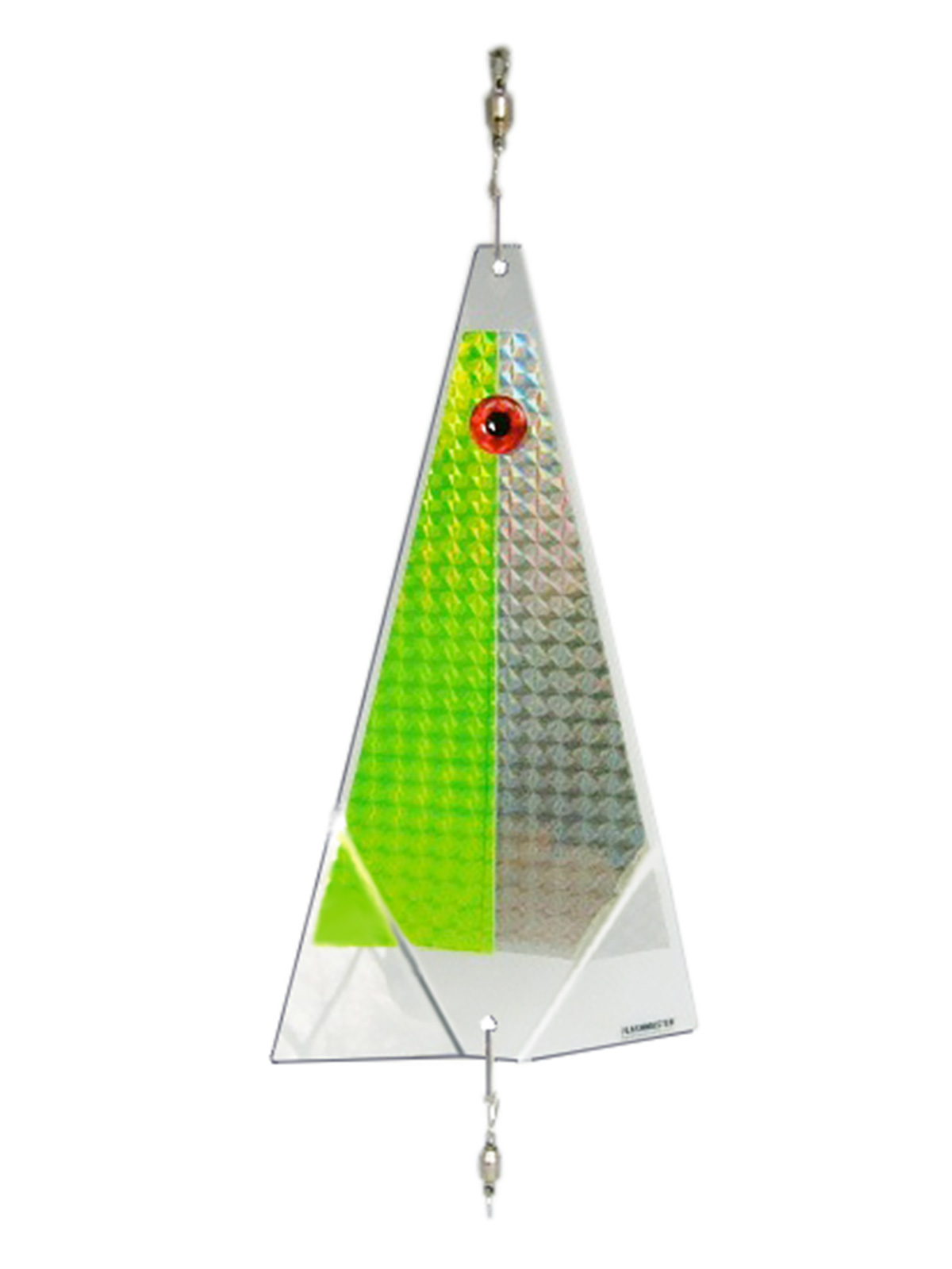 lime ice fishing lure