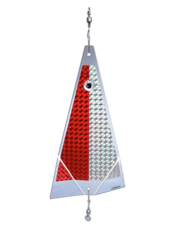 red ice fishing lure
